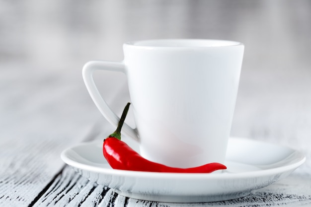 Spicy coffee with hot chili