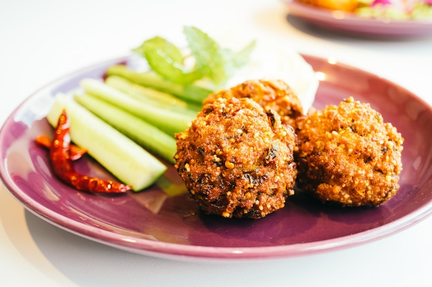 Spicy minced pork ball