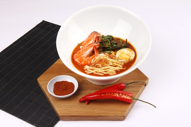 Spicy noodles with shrimp egg and chilli