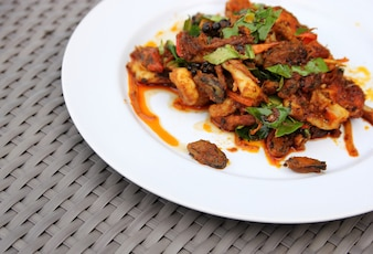 Spicy seafood Fried