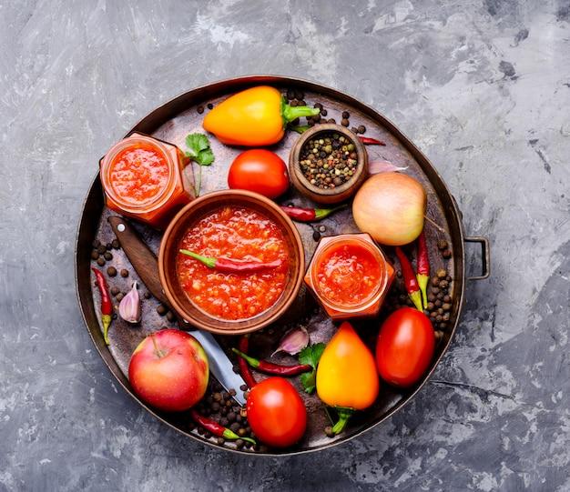 Spicy seasoning, sauce