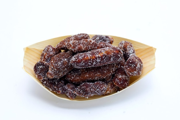Spicy tamarind mixed with granulated sugar, chili and salt