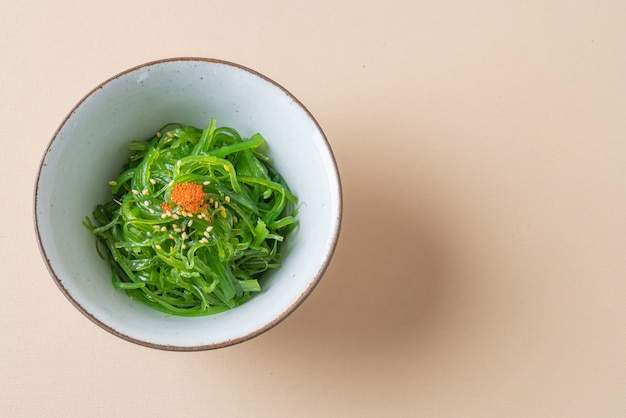 Spicy wakame seaweed salad - japanese food style