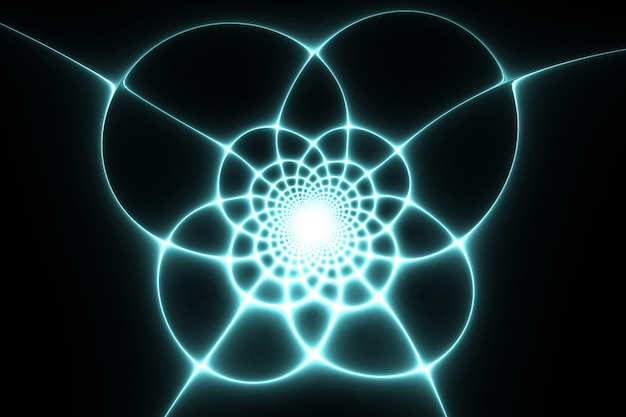 Spider web pattern. abstract fractal design.