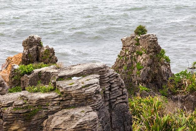 뉴질랜드 남섬 파파 로아 국립 공원의 뾰족한 절벽