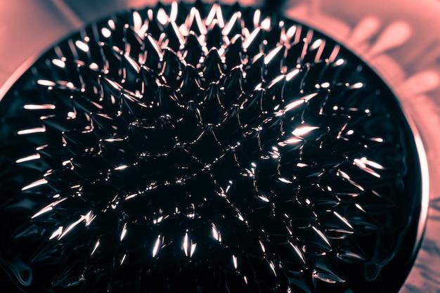 Spiky neodymium magnet phenomenon