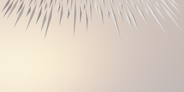 Spiky triangle abstract geometric background 3d illustration