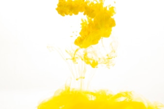 Spill of yellow paint