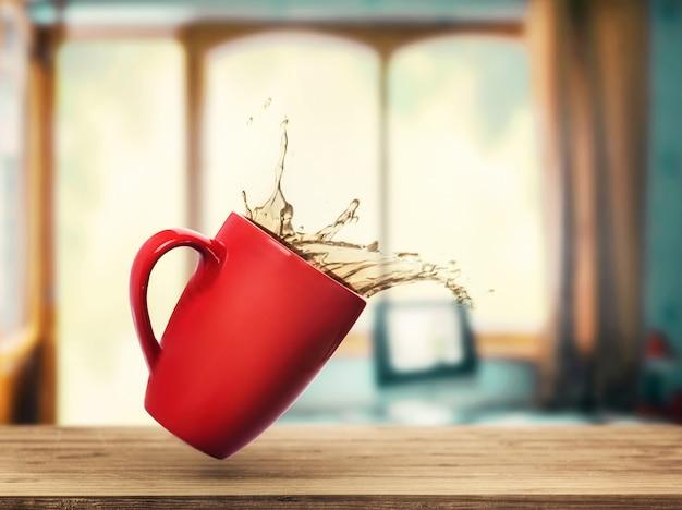 こぼれたお茶