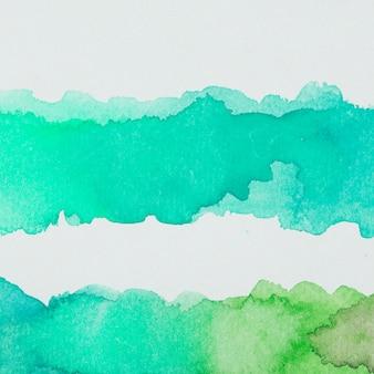 エメラルドと緑色の水彩画の流出