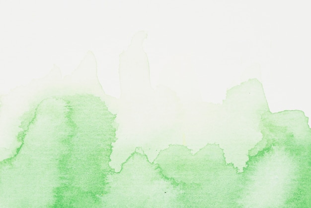 緑色の水彩画がこぼれる