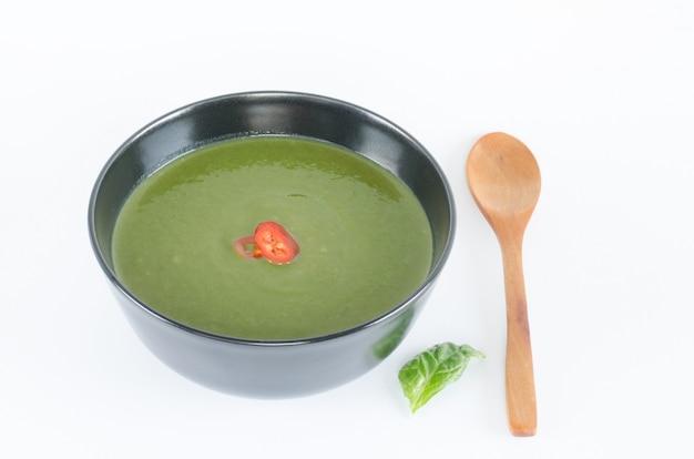 Суп из шпината.