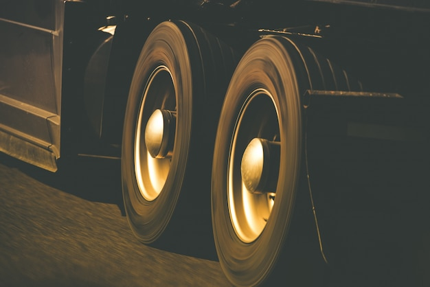 Spinning truck wheels