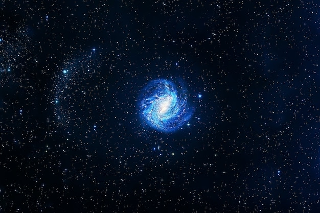 Спиральная галактика в красивых цветах элементы этого изображения предоставлены наса.