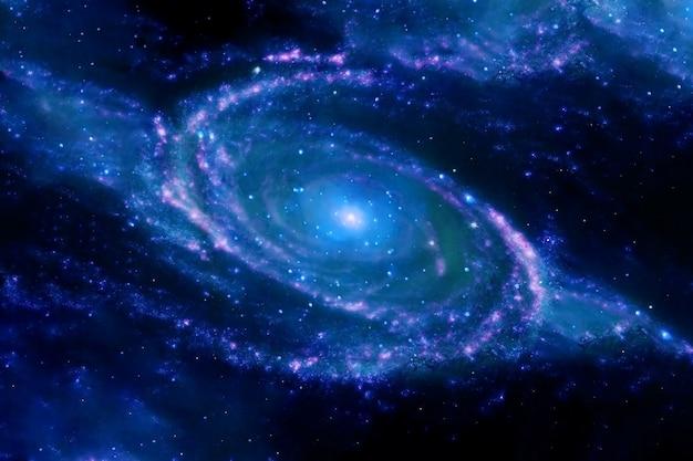 深宇宙の渦巻銀河。 nasaから提供されたこの画像の要素。高品質の写真