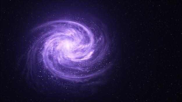Спиральная галактика на фоне вселенной