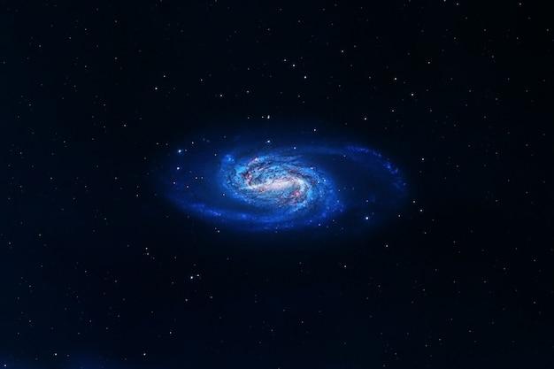 Спиральная галактика на темном фоне элементы этого изображения предоставлены наса.