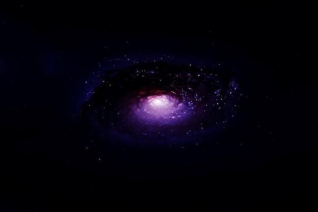 暗い背景の渦巻銀河この画像の要素はnasaによって提供されました
