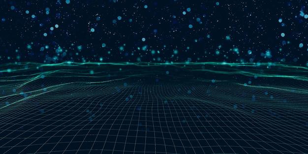 スパイラルメッシュマルチカラー方形波とボケ抽象