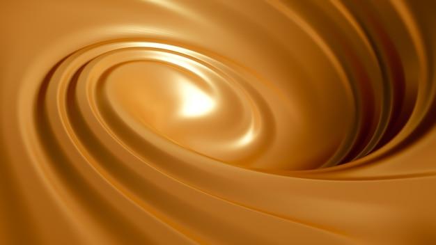 Спиральная карамель всплеск. 3d иллюстрации, 3d рендеринг. Premium Фотографии