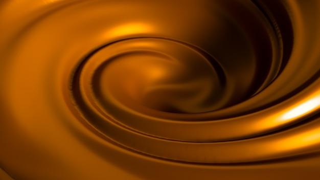 Спиральная карамель всплеск. 3d иллюстрации, 3d рендеринг.