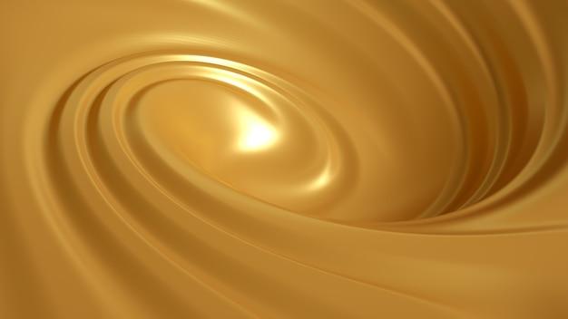 Спиральный всплеск карамель 3d иллюстрация