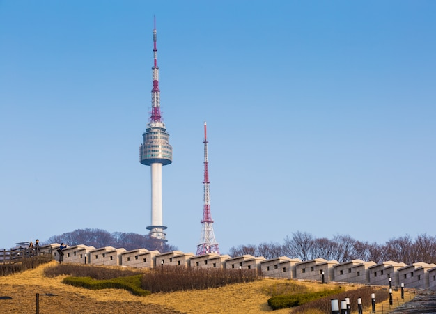 Spire of n seoul tower