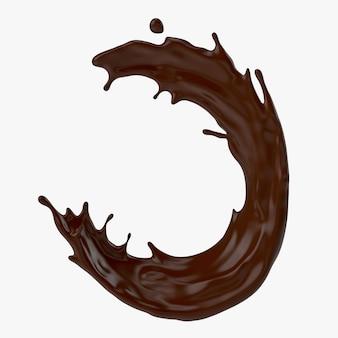 A splash of chocolate