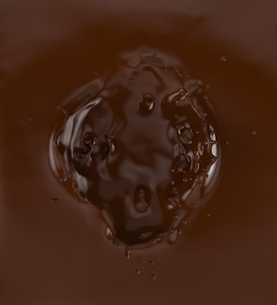 A splash of chocolate.
