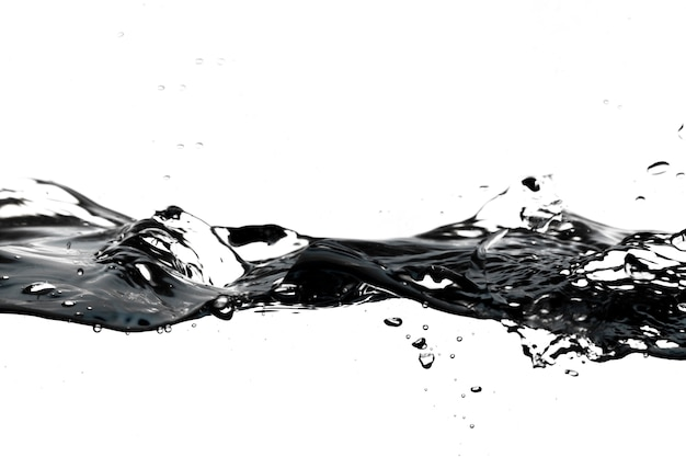 Splash and drops of water
