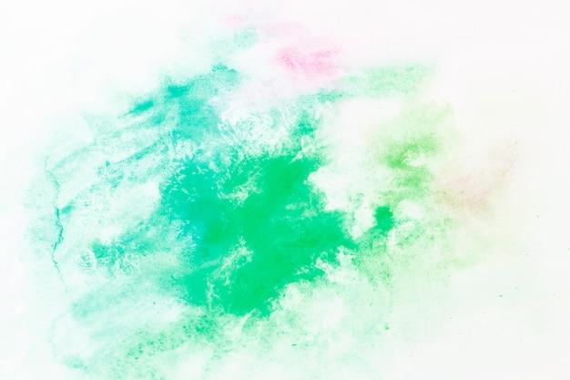 Splash of emerald green paint