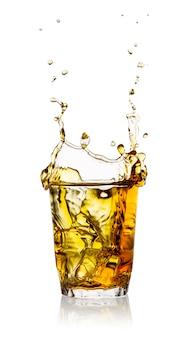 Splash in a glass of whiskey