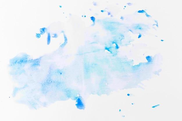 Spruzzata di colorante azzurro
