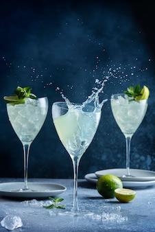 Splash of mojito cocktail
