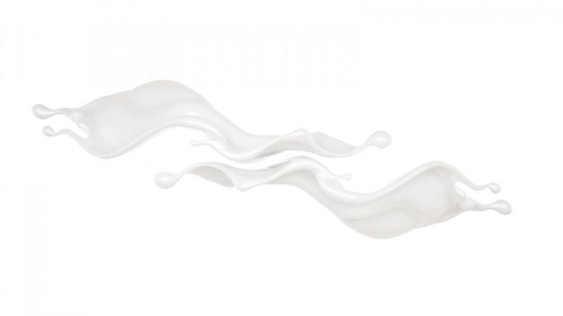 Всплеск густой белой жидкости.