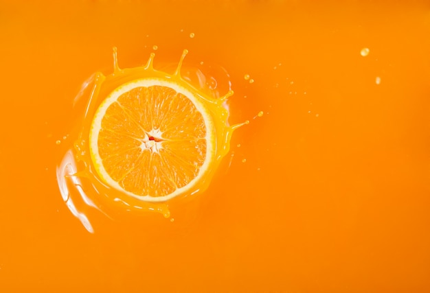 Splash orange juice