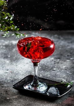 Splash photography of cocktail