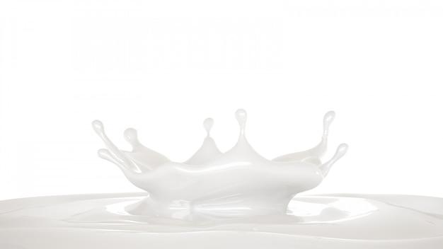 Splash of thick white liquid.