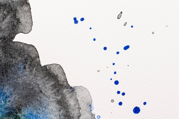 Splashes of blue ink watercolor