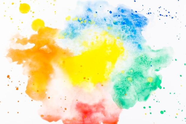 カラフルな水彩画の飛沫 無料写真