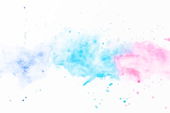 Splashes of turquoise and fuchsia watercolor