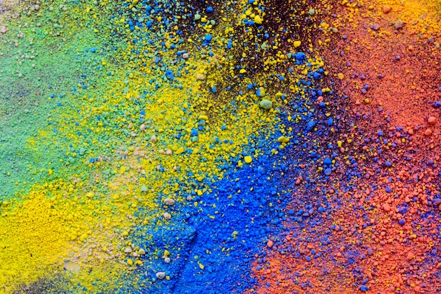 A splatter of pastel natural colored pigment powder