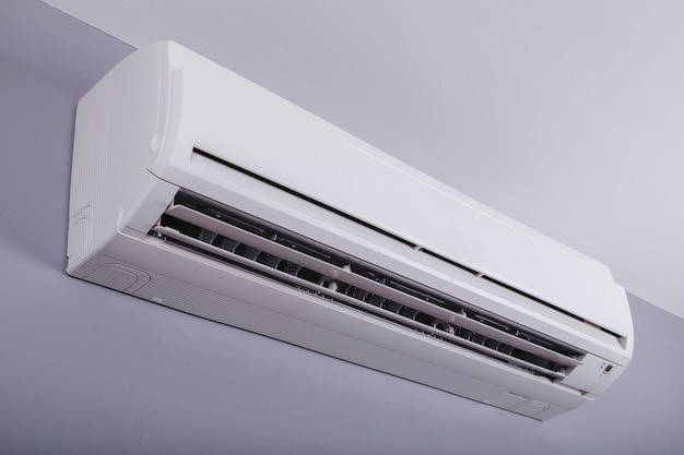 Split air conditioner on a wall