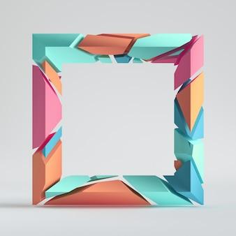 Сплит красочный геометрический объект, изолированные на белом фоне