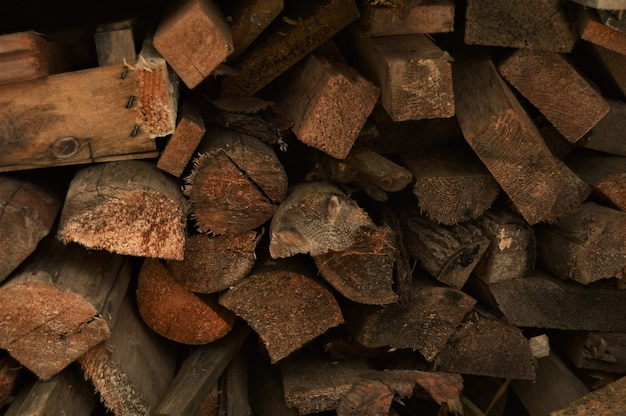 Split wood for firewood. background and texture