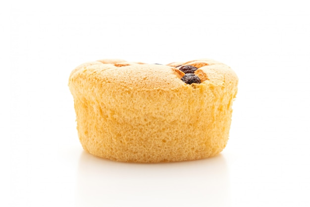 Sponge cupcake with raisin