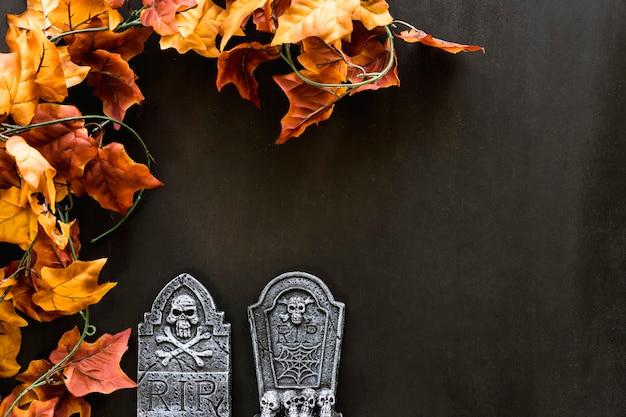 Composizione spettrale per halloween con spazio