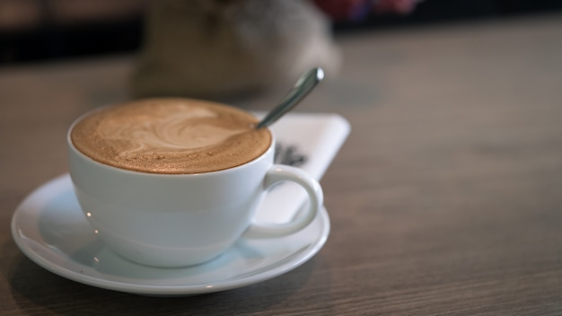 Spoon in coffee cup