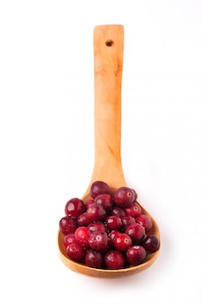 Spoon of cranberries