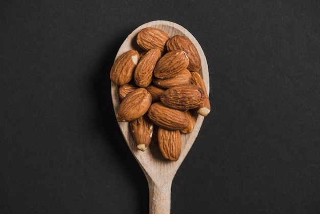Spoon with almonds